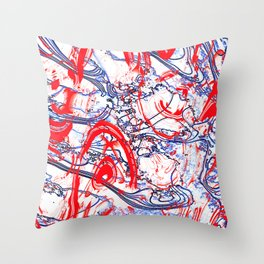 Splattering of Red Throw Pillow