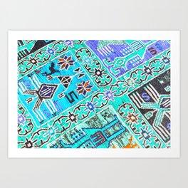 Carpet Chaos Art Print