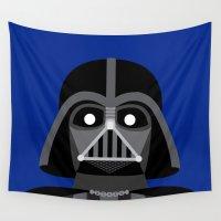 darth vader Wall Tapestries featuring Darth Vader  by René Martin