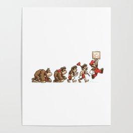 8-Bit Evolution Mario Poster