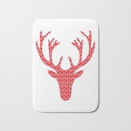 Red deer head Bath Mat