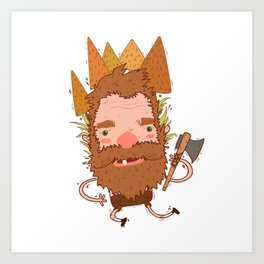 Lumberjack Graphic Art Print