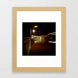 Chicago Blue Line Framed Art Print