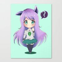 chibi Canvas Prints featuring Chibi by Alice