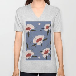 Countryside Floral Pattern  Unisex V-Neck