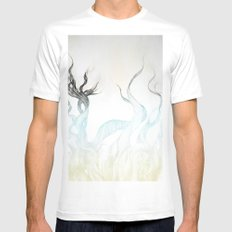 Wild Hair!  White SMALL Mens Fitted Tee