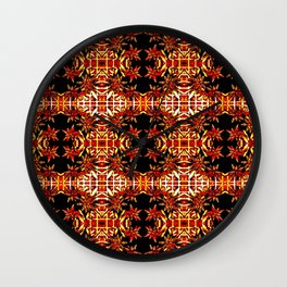 Traditional Christmas Star Pattern Wall Clock