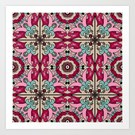 A colourful ornament . Art Print