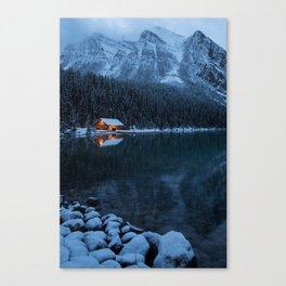 Lake Louise Cabin Canvas Print