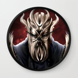 Dragonborn - Mirrak Digital Illustration  Wall Clock