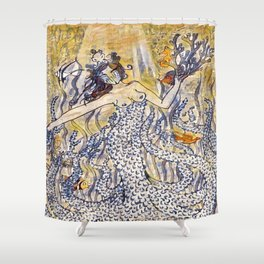 Coral Queen Shower Curtain