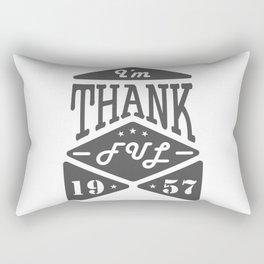 I'm thankful. Thanksgiving Day emblem Rectangular Pillow