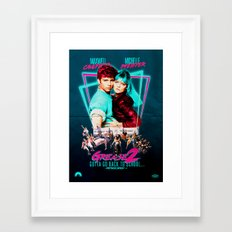 Neon 80's Grease 2 Poster Framed Art Print