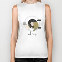 okay Biker Tanks featuring Okay. by Zharaoh