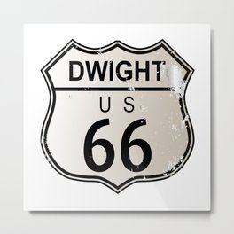 Dwight Route 66 Metal Print