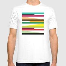 Irregular stripes #2 Mens Fitted Tee MEDIUM White
