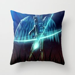 Luc Ready for Battle Throw Pillow
