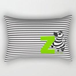 z for zebra Rectangular Pillow