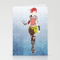 borderlands Stationery Cards featuring Borderlands 2 - Lilith by LightningJinx