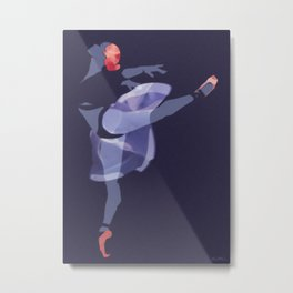 Suspended Movement Metal Print