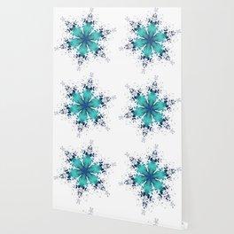 Turquoise Snowflake Wallpaper