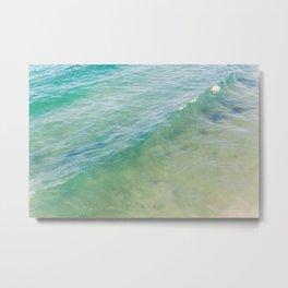 Peaceful Waves Metal Print