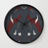 digimon Wall Clocks featuring Cyberdramon by JHTY