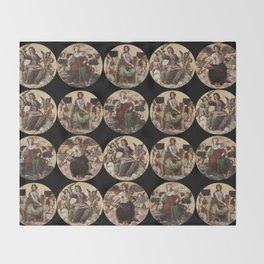 """Raffaello Sanzio da Urbino """"Ceiling of the Stanza della Segnatura"""", 1508-1511 Throw Blanket"""