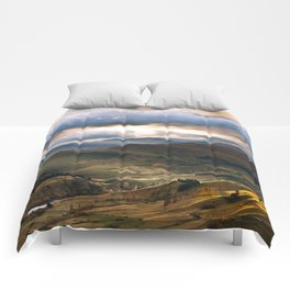 Mountains in New zealand Comforters