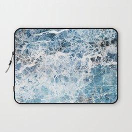 Sea foam blue marble Laptop Sleeve