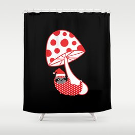 happy Christmas sloth Shower Curtain