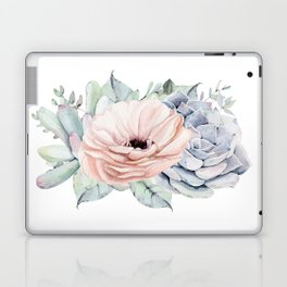 Pastel Succulents by Nature Magick Laptop & iPad Skin