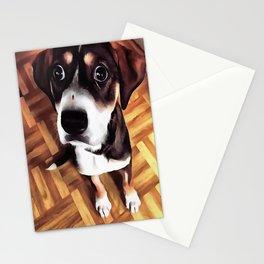 Marty The Soulful Eyed Dog  Stationery Cards