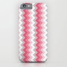 Chevron Pink & Grey iPhone 6s Slim Case
