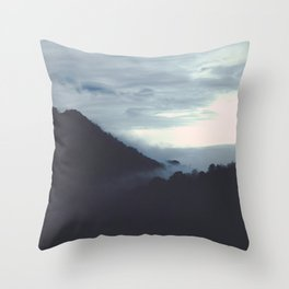 winter wind stops my breathing Throw Pillow