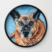 hercules Wall Clocks featuring Hercules by Lindsay Larremore Craige