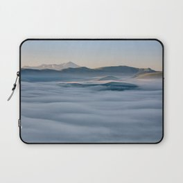Above the fog, Castelluccio, Italy Laptop Sleeve