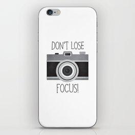 Don't Lose Focus! iPhone Skin