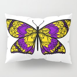 Fly With Pride: Intersex Flag Butterfly Pillow Sham