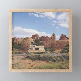 Rock Camper Framed Mini Art Print