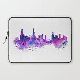 Chicago Watercolor Skyline 2 Laptop Sleeve