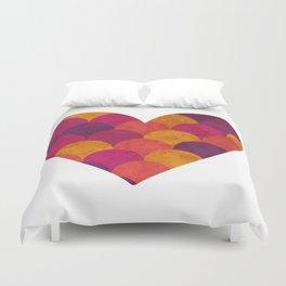 Purple Heart Tiles Duvet Cover