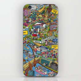 Illustrated map of Berlin iPhone Skin