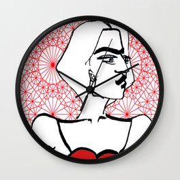 The Partisan Lady Wall Clock
