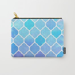 Blue and purple glass Moroccan print Carry-All Pouch