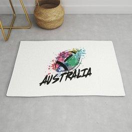 Football Australia  TShirt Football Shirt Footballer Gift Idea  Rug