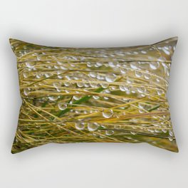 Water droplets in the straw Rectangular Pillow