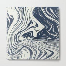 Marbled, Abstract Ocean Metal Print
