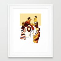 muppets Framed Art Prints featuring Bert & Ernie Muppets by joshuahillustration