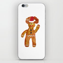 Santa Gingerbread Man iPhone Skin
